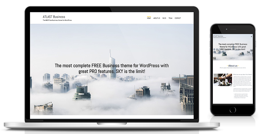 Atlast business wordpress theme akisthemes theme information flashek