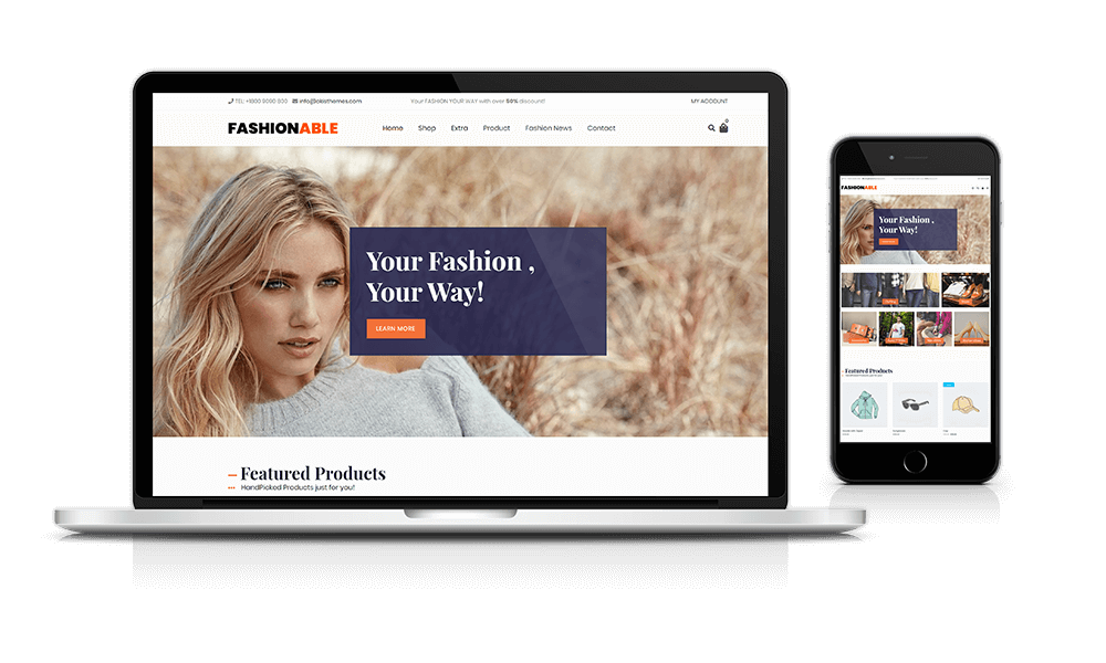 Best WooCommerce theme for fashion stores and clothing stores.