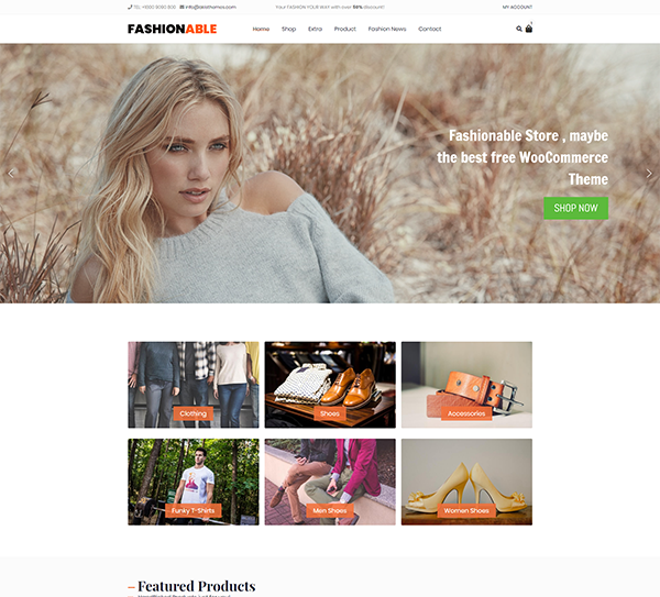 Fashionable Store WooCommerce Theme